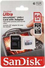 SanDisk Ultra 64GB Micro SD SDXC Memory Card 80MBs UHSI Class 10