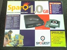 SYQUEST SPARQ 1GB EXTERNAL PARALLEL REMOVABLE DISC DRIVE - BOXED - WORKING - V,.