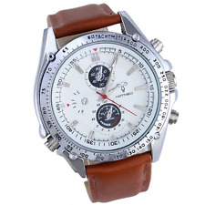 Mens Women Military Forces Army Outdoor Brown Leather 3ATM Waterproof Water Resi
