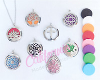Aromatherapy Essential Oil Diffuser Necklace Pendant Stainless Steel Tree Cross
