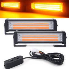 40W Amber COB LED Strobe Flash Traffic Emergency Warning Light Bar Beacon 12 DC