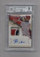 BILLY HAMILTON 2014 IMMACULATE PRIME PATCH AUTO RC #37/99 REDS BGS 9 10