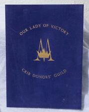 Vintage Our Lady Of Victory Crib Donors' Guild Mass Certificate 1982 mv