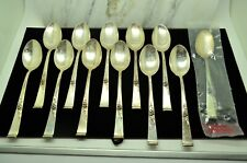 """LOT OF 12 STERLING SILVER REED & BARTON CLASSIC ROSE 6"""" TEA SPOONS"""