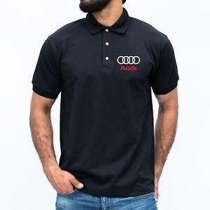 Audi Polo T-shirt Quattro tt r8 s3 a3 Sport Racing Dad Fathers Car Gift MENS Top