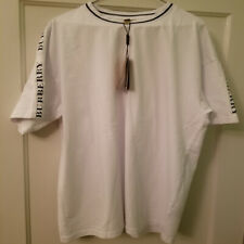 New Burberry M Roedon Tape T-Shirt White - NWT - 100% Authentic - Size XL