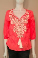 Joe fresh Pink Embroidered Shirt Top Blouse Small S