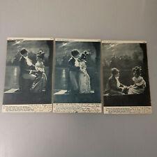 """3 Fotopostkarten Serie """"Mondscheinfahrt"""" 1904 gelaufen (55261)"""