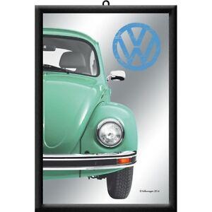 VW Volkswagen Käfer Nostalgie Barspiegel Spiegel Bar Mirror 22 x 32 cm