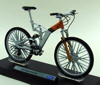 Welly 1/10 Scale - Audi Design Cross Pro Diecast Plastic Model Bicycle and Stand