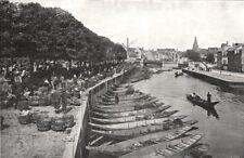 SOMME. Amiens. Marché sur L'eau; Les Hortillons 1900 old antique print picture