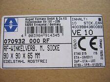 Winkelverbinder Winkel mit Wulst Edelstahl V4A 90x90x65 4St 1St=5,00€