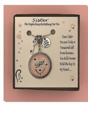 Sister Pink Love Heart  Gift Boxed Charm Necklace FREE SHIPPING!