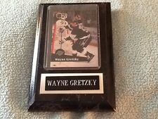 Wayne Gretzky NHL Los Angeles Kings card on wood plaque
