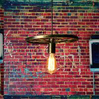 Vintage Industrial Retro Style Metal Ceiling Hanging Pendant Light Lamp Shade UK