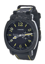 Anonimo Militare 43mm Automatic Black Steel Black Canvas Yellow Stitching Watch