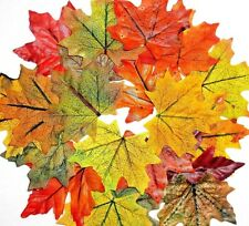 """20 Hand-Stained Fall/Autumn 3.5"""" Silk Maple Leaves.Each Unique FAST USA"""