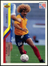 Carlos Valderama, Columbia #38 World Cup USA '94, (Eng/Ger) Card  (C385)