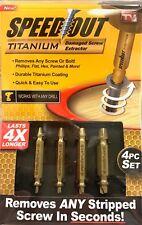 Speed Out Titanium Damaged Screw Extractor Ontel SOTPPKG10616-TK