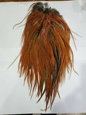 Brown Furnace Rooster Saddle Cape Fly Tying Fishing Hackle Feathers furnace