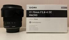 Sigma  17-70 f 2.8-4 contemporary for Nikon