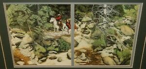 """BEV DOOLITTLE """"THE FOREST HAS EYES"""" COLOR OFFSET BOOK LITHOGRAPH"""