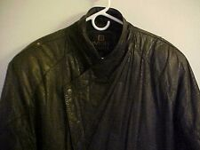 *** Black Leather Men's  Motorcycle Riding Jacket! (Byrnes and Baker) ***