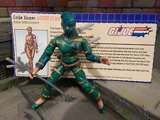 GI JOE ~ 2003 AGENT JINX NINJA ~ TIGER FORCE 100% COMPLETE & FILE CARD