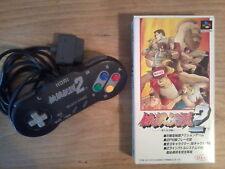 Lot Jeu + Manette FATAL FURY 2 - Super Famicom SNES - HORI - Boxed Nintendo