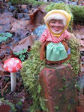 weird vintage Troll grandma doll~early hard plastic toy~brand? 1950s era antique