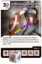 070 VIBRANIUM SHIELD: Symbol of Freedom -Common- CIVIL WAR Marvel Dice Masters