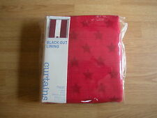 NEXT RED STARS PENCIL PLEAT BLACKOUT LINED BOYS CURTAINS  46x72""