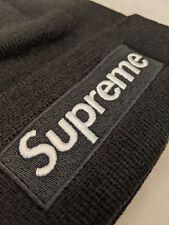 Supreme box logo black beanie authentic