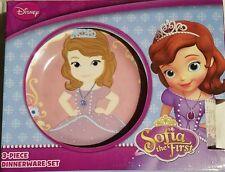 Disney Sofia the First Porcelain 3 piece Dinnerware Set Mug Cup Bowl Plate NEW