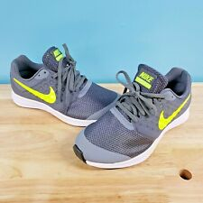 Nike Downshifer 7 Athletic Shoes size 6YW Gray with Yellow Swoosh 881511-002