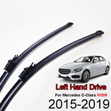 LHD Front Windshield Wiper Blades Set For Mercedes-Benz C-Class W205 2015-2019