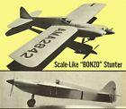 "Model Airplane Plans (UC): BONZO 50"" Semi-Scale Stunt for .35 by Paul Plecan"