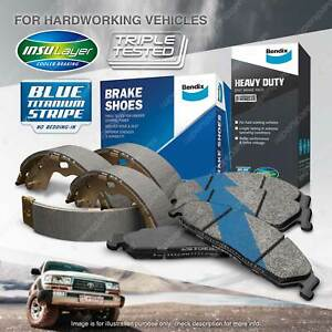 Bendix HD Brake Pads Shoes Set for Ford Courier PD 2.5 TD 2.6 i RWD