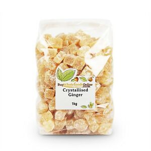 Candied Crystallised Ginger Pieces   1kg Bulk   Buy Whole Foods Online