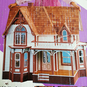 Wood Doll House Kit Heritage Dura Craft Mansion Victorian Gothic 2 Story Project