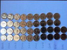 2007 to 2016 DENVER US Mint Presidential Dollar  39  $25 roll  Complete SET