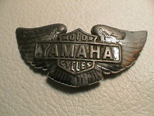 YAMAHA MOTORCYCLE BIKER REPURPOSED BRASS BROKEN BUCKLE DESK OFFICE PAPERWEIGHT