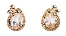 Earrings Gold Plated Authentic 7327a Swarovski Elements Crystal Teardrop Stud
