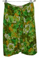 Vintage 60's Wrap-Around Sarong Skirt Cover-up SEARS HAWAII One Size Green Multi