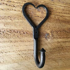 Puerta De Pared Corazón Amor De Hierro Forjado Abrigo Gancho De Cocina Estilo Antiguo Rústico-CH23