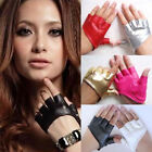Fashion Ladies Half Finger Gloves Fingerless Driving Show Palm Dance