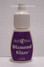 Judikins Diamond Glaze Mini 10ml Bottle Clear Glass Like Finish Coat & Adhesive
