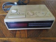 Sony ICF-C2W Dream Machine AM/FM Alarm Clock Radio, Beige Color