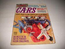 "NOV. 1962 ""CARS"" MAGAZINE 426 HEMI FORD & CHRYSLER 1963 MODEL REPORTS 260 FALCON"