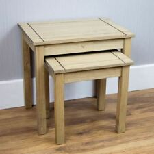 Solid Wood Rectangle Nested Tables 2 Pieces